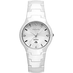 ultra thin ceramic watch/Ladies watches diamond mirror/Waterproof quartz watches-B