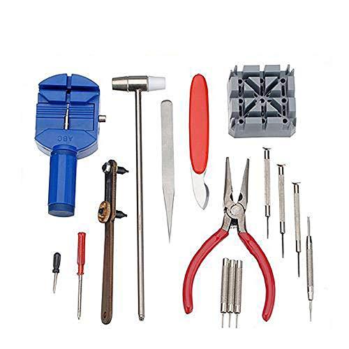 TAOtTAO 16 stücke uhr-reparaturwerkzeug-kombinationsuhr-batteriewerkzeugreparatur-uhrensatz repair tool kombinationswerkzeug uhr ändern batterie werkzeug reparatur set