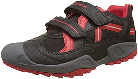 Geox Unisex Adults' J New Savage A Low-Top Sneakers, Black