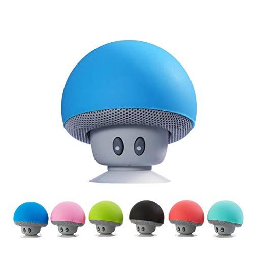 YIQIFEI Speaker Bluetooth Portatile,Cassa Altoparlante Bluetooth, Altoparlante astuto Impermeabile del Mini Regalo di Sucker Mobile Creativo del Mini Fungo di Bluetooth dell'altoparlante del Fumetto