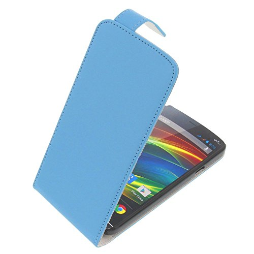 Tasche für Wiko Slide Flipstyle Schutz Hülle Handytasche blau