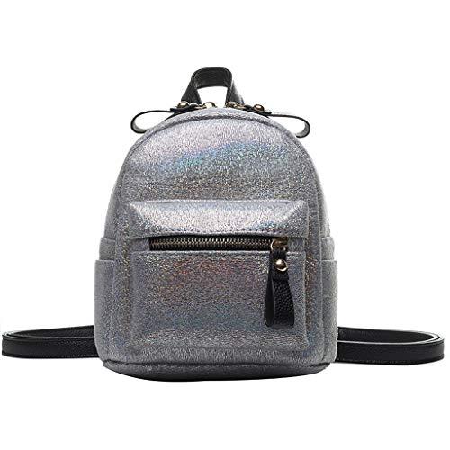 Haludock Fashion Ladies Shiny Wild Umhängetasche Dual-Use-Tasche Reißverschluss Kleiner RucksackReisetasche Umhängetaschen Handliche Tasche (Womens Stationäre Set)