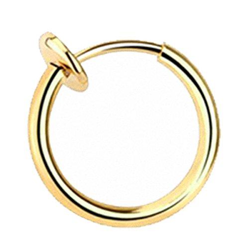 Taffstyle® Septum Nasenpiercing Klemmring Fake Ring Sping Piercing Helix Ohr Nasenring / Roségold