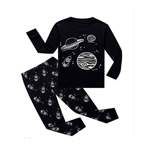ee3b3c0a61 SOBOWO Boys Pajamas Set Long Sleeve Cotton Little Kids Pjs Sets 2PCS  Toddler Sleepwears 2-
