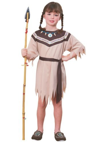 Indian Girl Native American Fancy dress costume Medium (Native Indian Girl Kostüm)