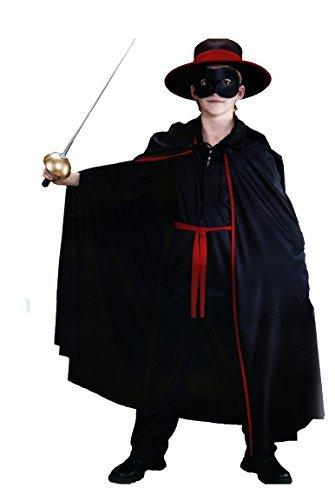 Costume di carnevale zorro - tg l - bambino 10/14 anni