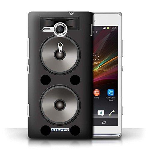 Kobalt® Imprimé Etui / Coque pour Sony Xperia SP/C5303 / Amplificateur conception / Série Haut-Parleur dessin Double