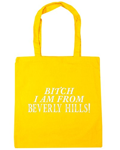 hippowarehouse-bitch-i-am-de-beverly-hills-sac-shopping-gym-sac-de-plage-42cm-x38cm-10litres-jaune-t