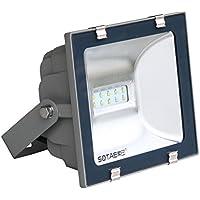 Proiettore a LED per installazione esterna, Proiettore a LED per illuminazione esterna - - impermeabile IP 65 - alluminio - grigio - 30 W - 5700K bianco freddo
