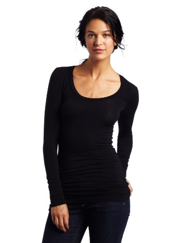 splendid-womens-layers-scoop-neck-long-sleeve-top-black-size-10-manufacturer-sizesmall