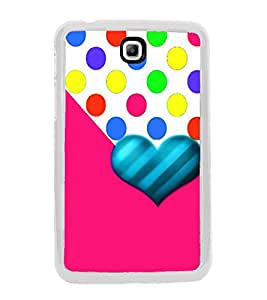 Fiobs Designer Back Case Cover for Samsung Galaxy Tab 3 (8.0 Inches) T310 T311 T315 LTE (Love Heart Symbol Pink)