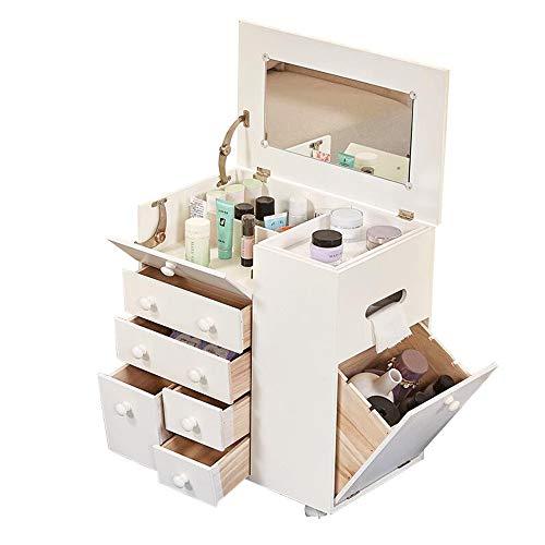 Computertische FEI Weiße Schminktisch Eitelkeit mit Spiegel Holz Make-up Schreibtisch Make-up Schrank Armoire - Badezimmer-eitelkeit-holz-eitelkeit