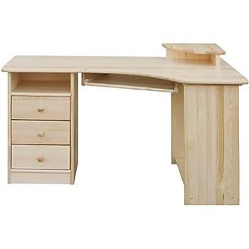 Schreibtisch kiefer massiv vollholz natur junco 185 for Schreibtisch vollholz