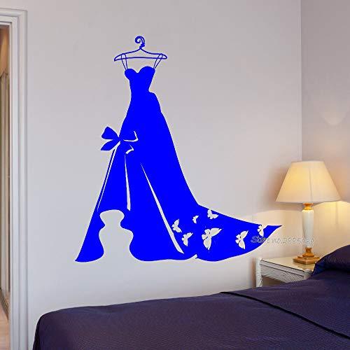 guijiumai Abito da Sposa Adesivo Donna Abbigliamento Adesivo murale Adesivi Rimovibili in Vinile Carta da Parati Artistica Camera da Letto Carta da Parati Piuttosto murale 1 56x61cm