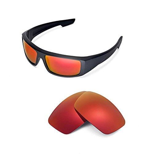 Walleva Ersatzgläser für Spy Optic Logan Sonnenbrille - Mehrfache Optionen (Feuerrot Mirror Coated - Polarisiert)