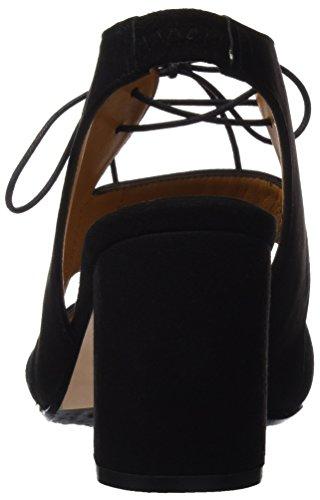Audley 19350, Sandales avec lanière de cheville femme Noir