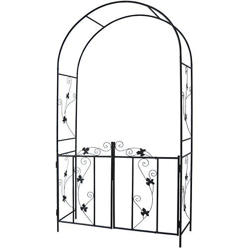 Eleganter Rosenbogen inkl. Türen und Bodenverankerung, Standhöhe ca. 214cm