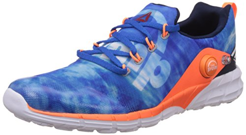 Reebok Boy's Zpumpfusion 2.0 Sw Blue, Dark Blue, Light Orange and White Sports Shoes – 5.5 UK 41QUuk75OEL