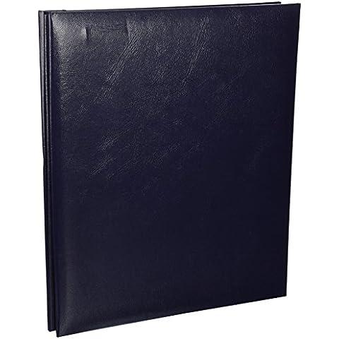 Pioniere 8,5 x 11 pollici similpelle Messaggio Album rilegato, Blu marino