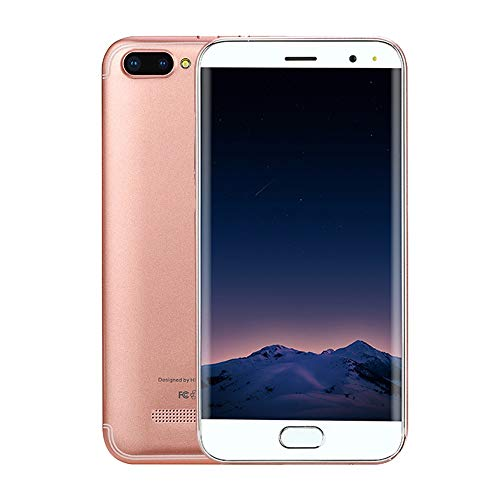 Prevently P113 Smartphone 5,0 Zoll Doppel-SIM 6.0 VOLLER Schirm Screen WiFi Bluetooth GPS 3G Anruf-Handy 32GB interner Speicher (Rose Gold)