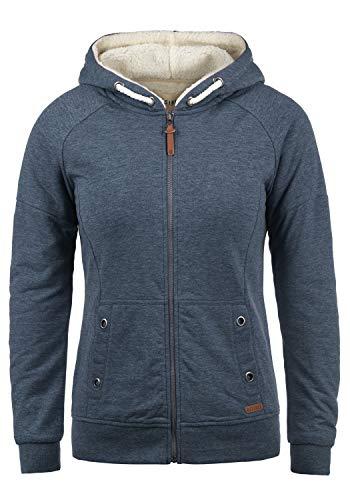 DESIRES Mandy Pile Damen Sweatshirt Pullover Pulli Mit Teddy-Futter, Größe:M, Farbe:INS BLU M (P8991)