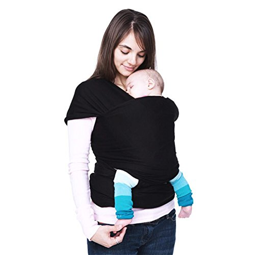 Ecloud Shop® Flexible Baby Products Baby CarrierWrap Sling Black