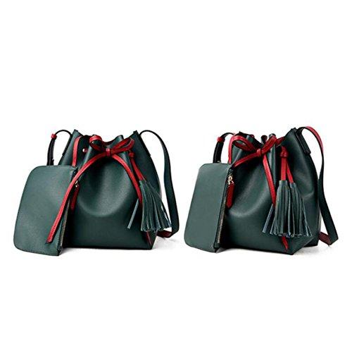 Frauen Geldbörse Und Handtasche Luxus Damen Business Schulter Tasche Mit Passenden Brieftasche Green
