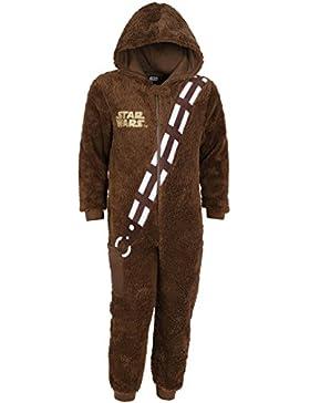 Disney Star Wars CHEWBACCA Ganzkörper Schlafanzug Einteiler Pyjama Strampelanzug