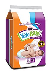 YoYo Baby Dryfit Active Large Size Taped Diapers (20 Diapers pack)SMALL