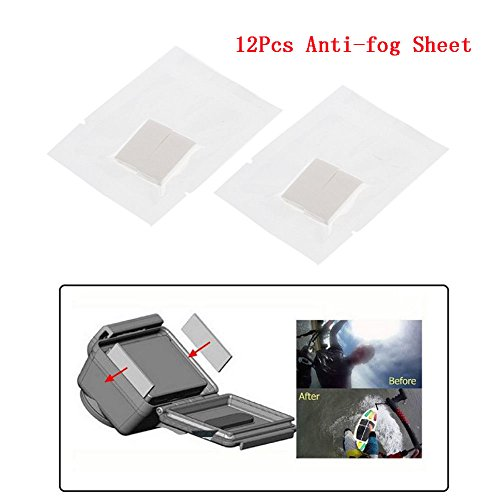 Deylaying 12Pcs Pro Anti-Fog Film Drying Inserts Accessories Für GoPro Hero 5 4 Session 3 3+ 2 Kamera