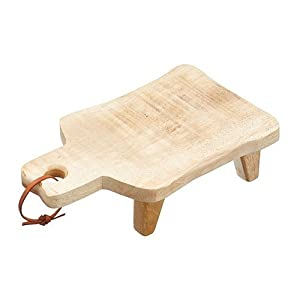 KitchenCraft Rectangular Medium Mango Wood Footed Serving Board, Brown, 30 x 18 cm (12 x 7 Inches)