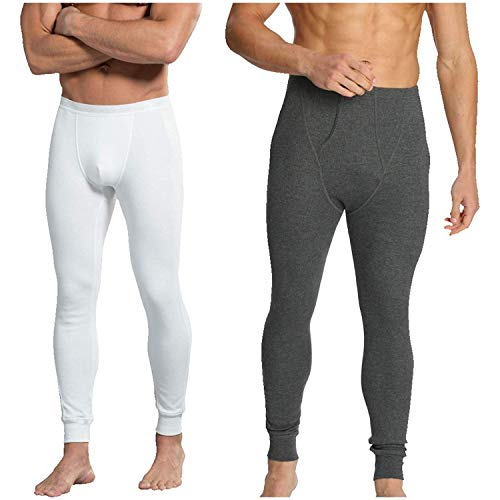 Kostüm Herren Jockey - 1 x JOCKEY Herren thermal-long John 2420-snug Fit-2 colours-labelfree-durable Bund - Gebrochen weiß, Large
