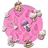 3D Baby Shower Silicone Fondant Mold Cake Decor Chocolate Sugarcraft Baking Mold,DN005