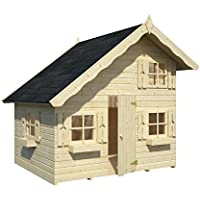 Box Casitas de madera caseta de jardín para niños, madera de abeto, 16mm, 3,8 m² -180X 220cm