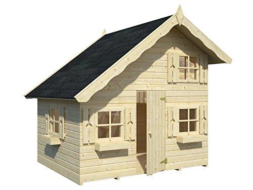 Box Häuschen aus Holz Gartenhaus für Kinder aus Holz Tannenzweig 16mm-3,8mq-180X 220CM