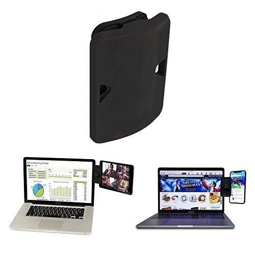 Seitliche Halterung für Zwei Monitore, iPad Monitorhalterung und Tablet-Ständer für Ihren Laptop, sofortiges zweites Display, kompatibel mit den meisten Laptops 1 Stück 1 Pack -