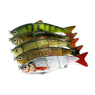 Ty 5pezzi duro esca jerkbaits minnow colori assortiti g/oncia mm pollice, dura plasticsea esca per la pesca casting canna da pesca d' acqua dolce