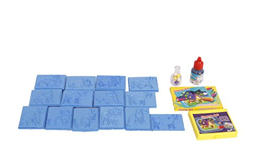 Ratna's Educational Art & Craft Stamp Art Animal Big with 12 Different Animal Stamps for Kids Ages 3+