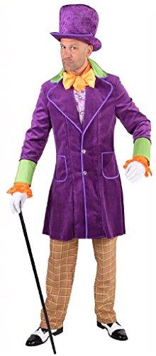 Kostüm Erwachsene Jack Steampunk Für - M217247-XS lila Purple Jack Herren Steampunk Kostüm-Anzug Gr.XS