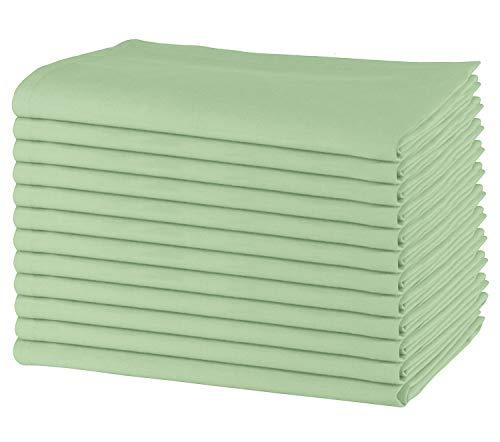 Sweet Needle - Packung mit 12 übergroßen Servietten, 100% Baumwolle, 50 cm x 50 cm, Schwerer Stoff, für den...