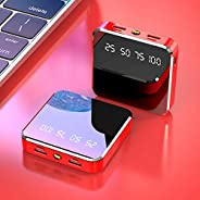 Portable 20000Mah Mini Power Bank 2.1A Fast Charge with LED Flashlight Small Full Mirror Screen Display Extern