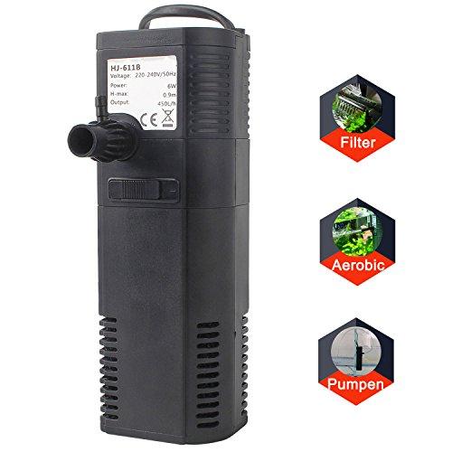 Bomba de filtro De Acuario Bomba con Filtro sumergible 2W 300L