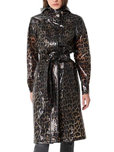 Scalpers Trench Leopardo - Abrigo para Mujer