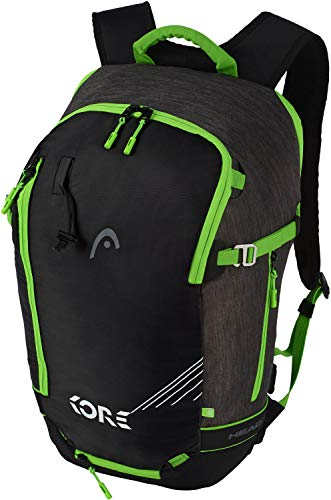 HEAD Freeride EOP 1.0 Skirucksack, Anthracite/Neon Green, 30 x 50 x 21 cm, 20 L