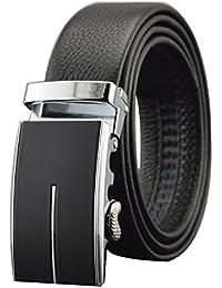 LYJBIK Hombres Cinturones Hebilla Automática Solemne Formal Simple