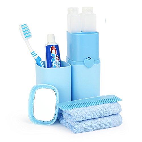 Kits de lavage voyage forfait de lavage Portable boîte de brosse à dents Brosse à dents Holder Box Set-D