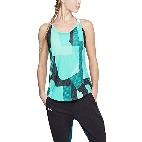 Under Armour Damen Speed Stride Printed Tank, Tropical Tide, XS