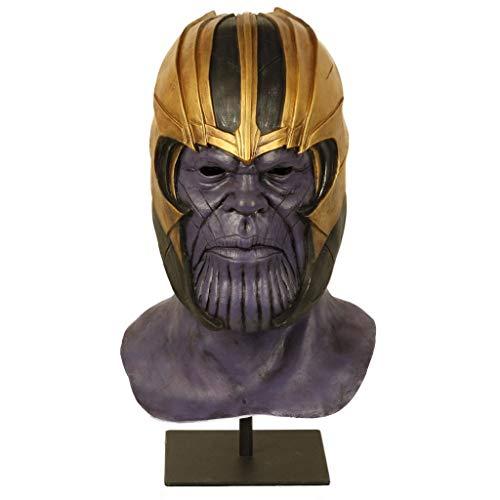 Ani·Lnc Marvel Avengers Casco, Máscaras Thanos Cosplay Máscara de Fiesta Látex Casco Superhéroe Avengers Máscara básica para Disfraces de Halloween Decoraciones para Fiestas (Casco)