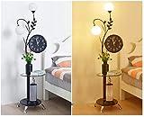 AZW@ Stehlampe Wohnzimmer Sofa Lampe Warmes Schlafzimmer Nachttischlampe Arbeitszimmer Uhr Tisch Couchtisch Lampe LED Fernbedienung Dimmen Vertikale Tischlampe,Versprechen ist,B