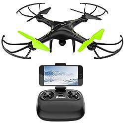 Potensic® Drone avec caméra, 2.4Ghz RC U42W Drone RTF Hauteur-fixe pour Photographie aérienne UFO avec WiFi Camera